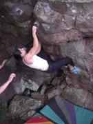 Rock Climbing Photo: Andrea cruising the arete.