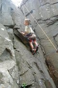 Rock Climbing Photo: 2 1/2 Year old on Dihedral (5.3)