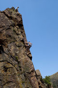 Rock Climbing Photo: Steve belays as Matt cleans Permanent Income Hypot...
