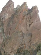 Rock Climbing Photo: It's hard to get the exact line from this angle, p...