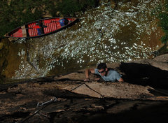 Rock Climbing Photo: Sean W. on Aquavulva with a sparkling East Clear C...