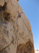 Rock Climbing Photo: Going big past the 3rd bolt...