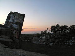 Rock Climbing Photo: Quincy Quarries and the Boston skyline at sunset.