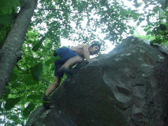 Rock Climbing Photo: Remo way up there!!