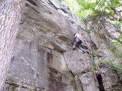 Rock Climbing Photo: Casey on the FA