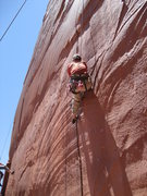 Bence pulling part of the crux