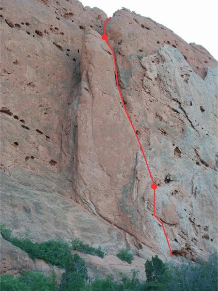 Rock Climbing Photo: All 3 pitches.