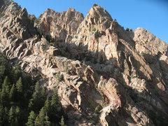 Rock Climbing Photo: red garden walls