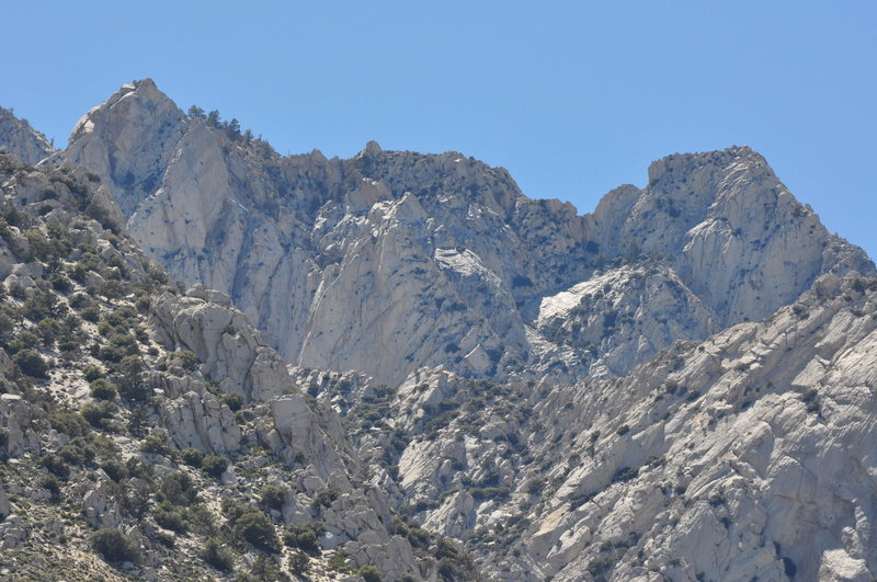 Rock Climbing Photo: Crags above Olancha