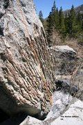Rock Climbing Photo: The Batter Boulder south face topo