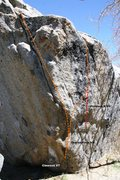 Rock Climbing Photo: Clearcut Boulder topo