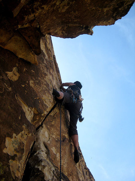 starting up the 5.9 hand crack (photo by Jascha)