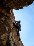 Rock Climbing Photo: starting up the 5.9 hand crack (photo by Jascha)