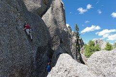 Rock Climbing Photo: Nate Erickson on Anchors Away. 30 May '10.
