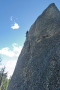 Rock Climbing Photo: Kate Muehling nearing the top of Anchors Away. 30 ...