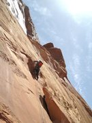 Rock Climbing Photo: Entering the shallow groove.