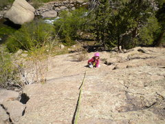 Rock Climbing Photo: the midget on belay