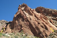 Rock Climbing Photo:  A.Location of the Climbs ,Blockbuster 5.11+,