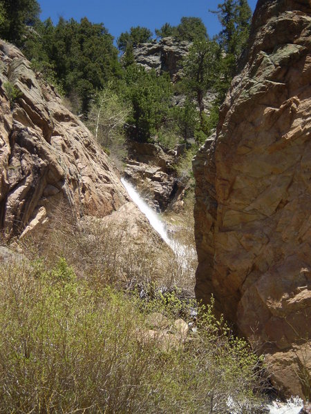 Windy Gulch Cascade off to the right of the trail.