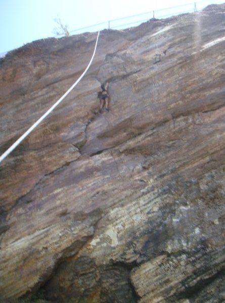climbing Beaver st. wall.