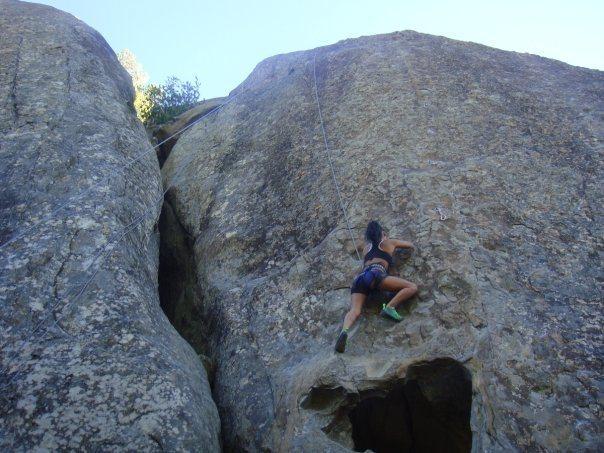 Rock Climbing Photo: Climbing amazing face :)
