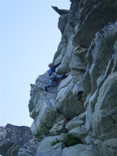 JP at the upper crux