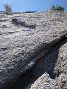 Rock Climbing Photo: First crack you can place gear into to protect the...