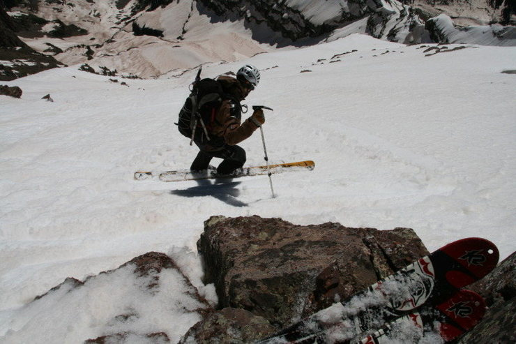 Rock Climbing Photo: East face South Maroon. Skier: AP Photo taken by M...
