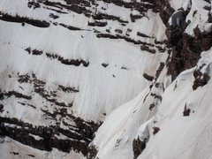 Rock Climbing Photo: Skiing South Maroon.  Photo taken from the summit ...