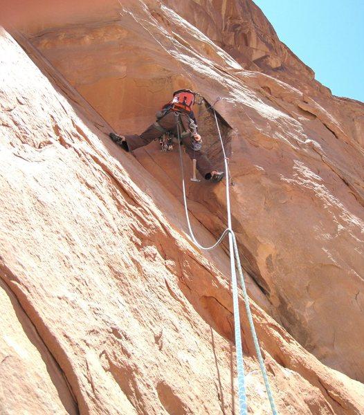 Rock Climbing Photo: Lance starting P1