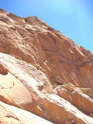 Rock Climbing Photo: Lance at the top of the first pitch, above the lon...