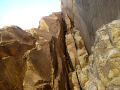 Rock Climbing Photo: first of the harder chimney pitches