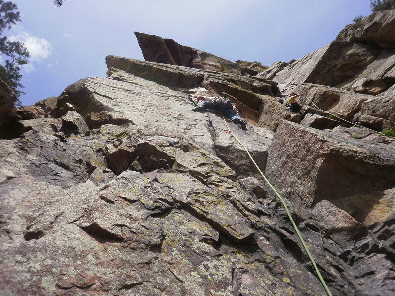 Rock Climbing Photo: Best 5.8 in the canyon!  (except that one slightly...