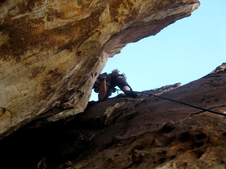 Rock Climbing Photo: 5.7 chimney pitch