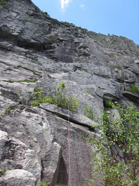Rock Climbing Photo: Ryan leading Bulldog