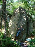 Rock Climbing Photo: Matt on the opening moves.  June 2010.