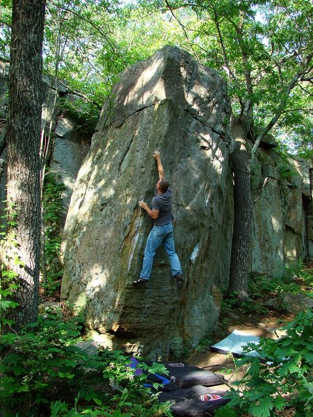 Rock Climbing Photo: A better way for taller folks to hit the crimp.  M...