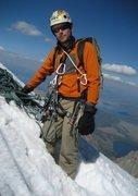 Rock Climbing Photo: The snowfield near the top of the Grand Teton.