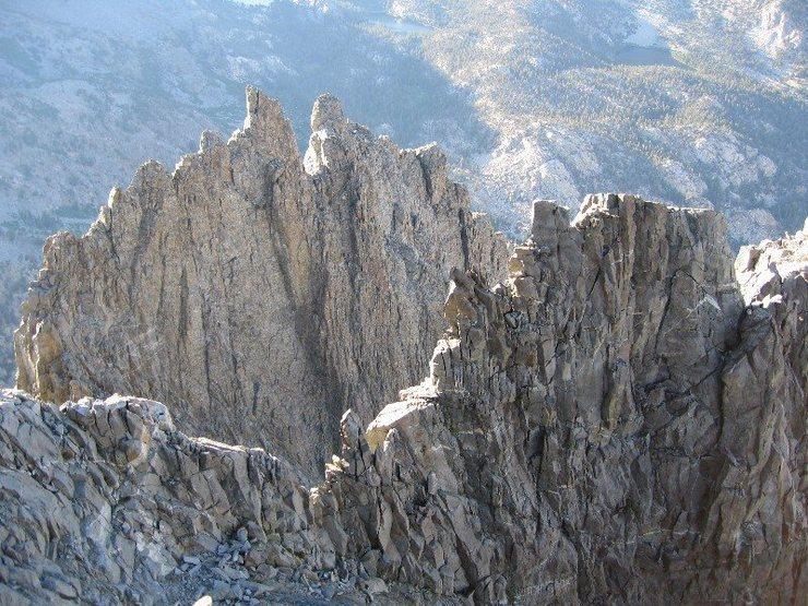 Rock Climbing Photo: High ridges on Temple Crag. Nearest one is Sun Rib...