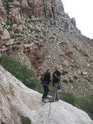 Rock Climbing Photo: Our buddies Jason, and Anne displaying good team w...