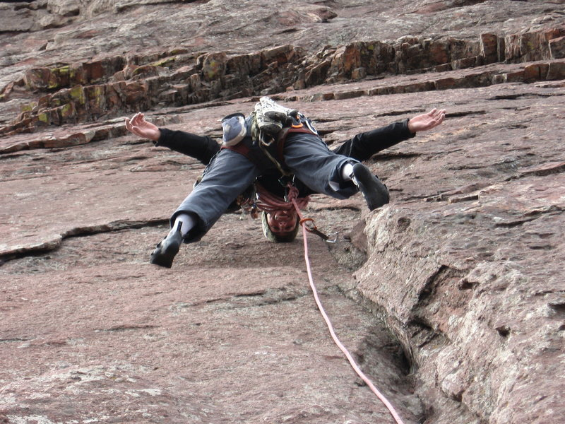 Rock Climbing Photo: Freestyle on the Flatirons