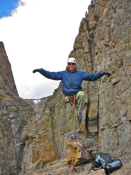 Rock Climbing Photo: Flying Crane On the Petit GRepon Summit