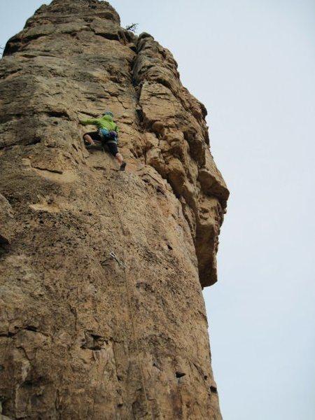 Rock Climbing Photo: Shelf Rd, still climbing