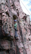 Rock Climbing Photo: Seth Bickford Blue Mounds Mn.