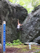 "Rock Climbing Photo: Kasi Quinn on ""Cherokee Dihedral"" (V-1) ..."