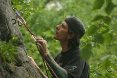 Rock Climbing Photo: cliping a bomber piece on Yoda...