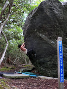 Rock Climbing Photo: Steve Lovelave matched on the first sidepull ledge...