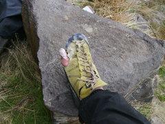 Rock Climbing Photo: Toe Chalk!