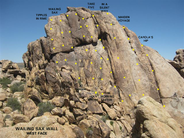Wailing Sax Wall - West Face