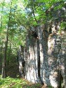 Rock Climbing Photo: Center and left Highball Walls